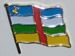 Central African Republic Country Flag Enamel Pin Badge